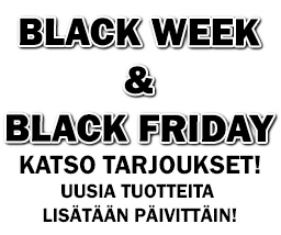 BLACK WEEK & BLACK FRIDAY SUPERTARJOUKSET!