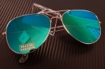FLAT Aviator Aurinkolasit | Midnight Green
