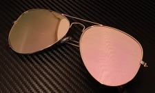 FLAT Aviator Aurinkolasit | Rose Pink | Small