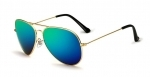 Veithdia Gold/Midnight Green Aviator - Polarisoidut TAC linssit