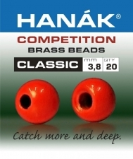 HANAK Competition CLASSIC FLUO+ Brass Messinkikuulat RED