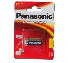 Panasonic CR123A 1500mAh 3.0V litium paristo